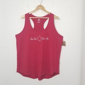 Canadiana | Red Maple Leaf Heart Beat Graphic Tank